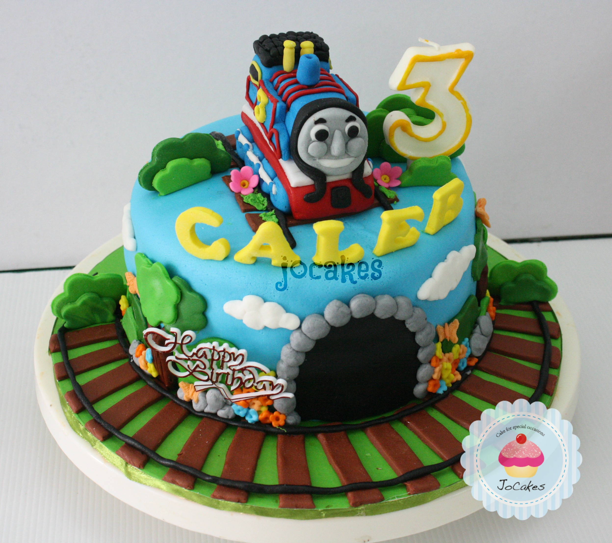 Thomas The Train Cake For Caleb