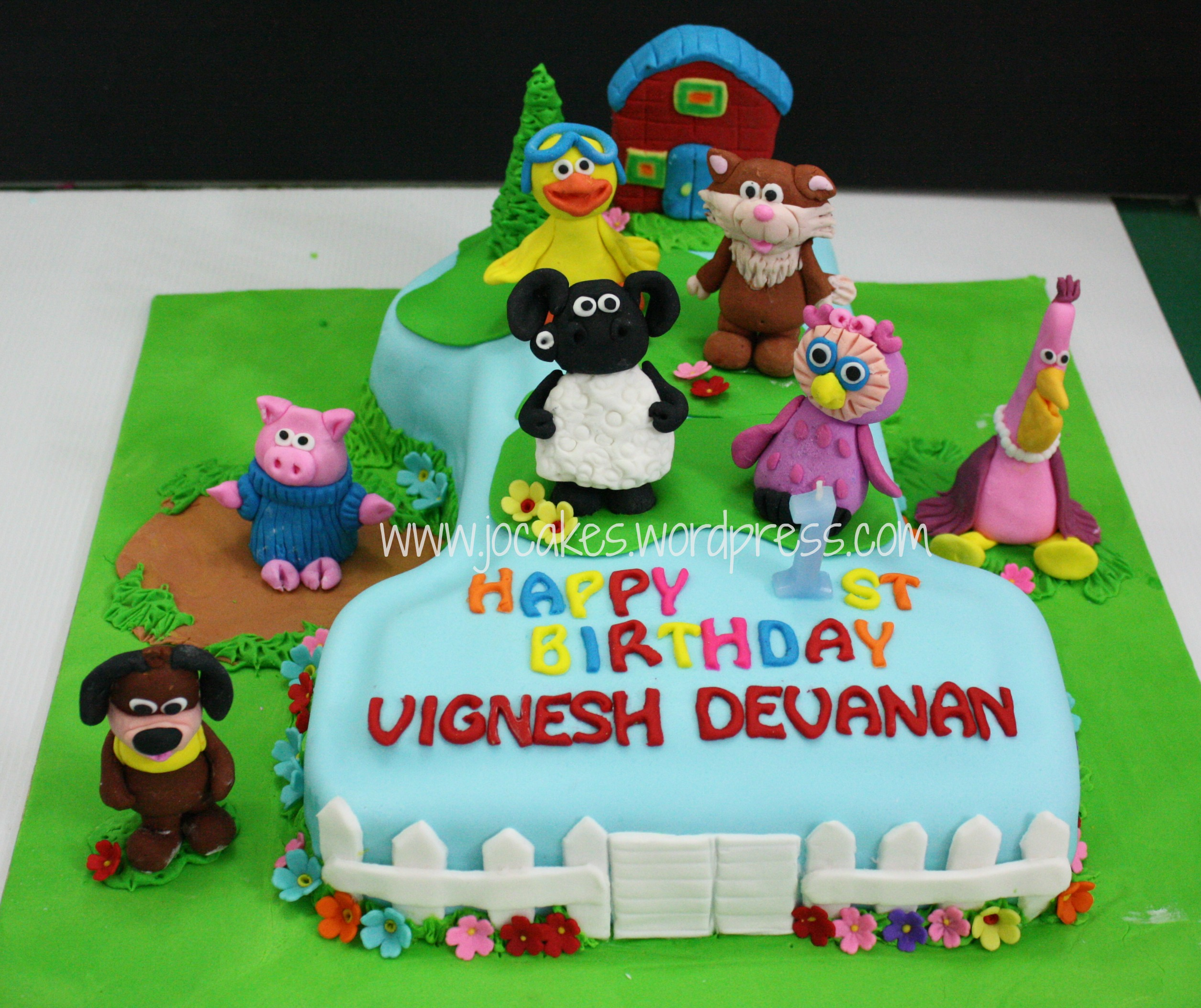 Timmy Time Theme Cake And Cookies For Vignesh Devanan S