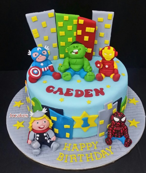 Avengers Birthday Cakes For 5 Year Old Boys