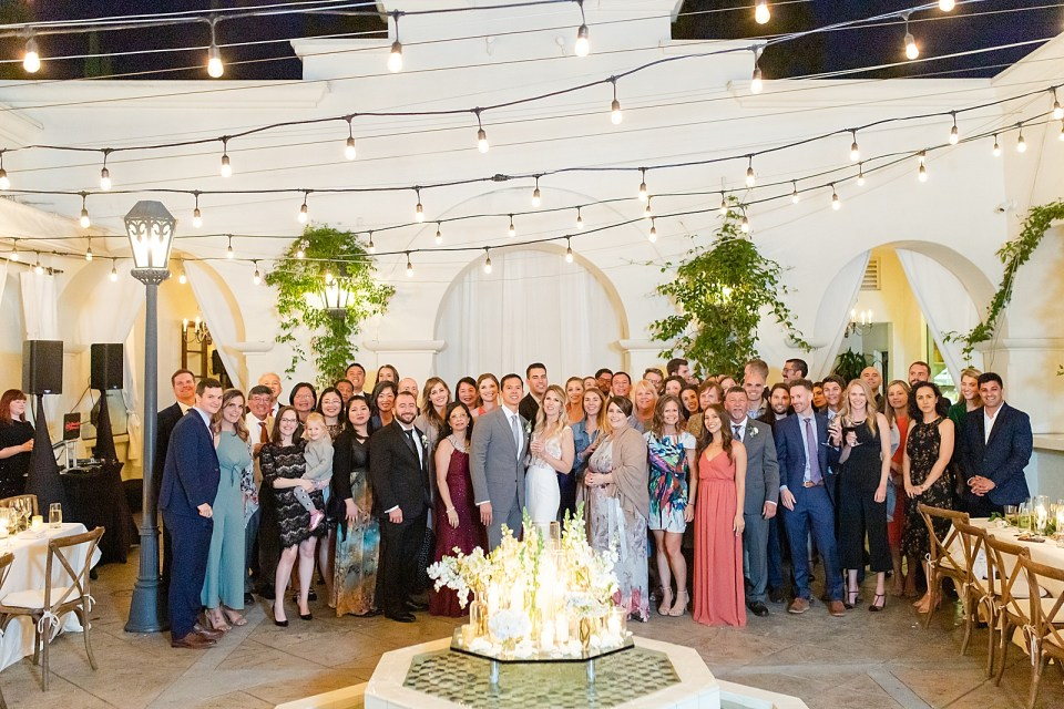 The entire wedding party at this Villa & Vine Wedding