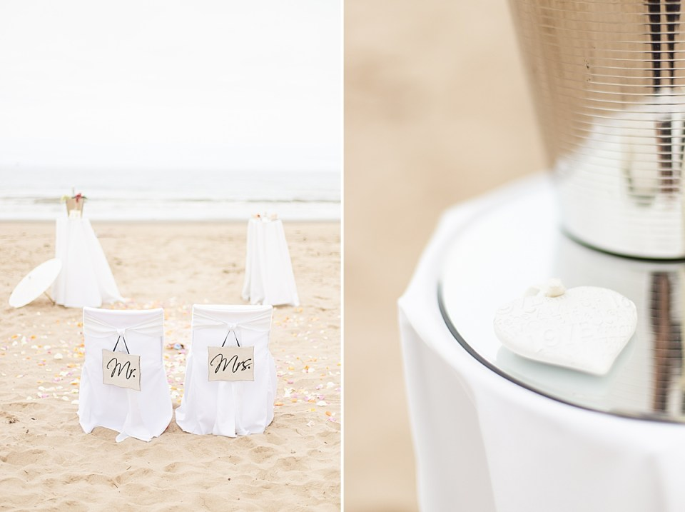 The ceremony location at Gina & Michael's Santa Claus Beach Elopement