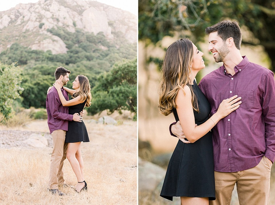 Kat & Brett during their Bishop's Peak engagement session