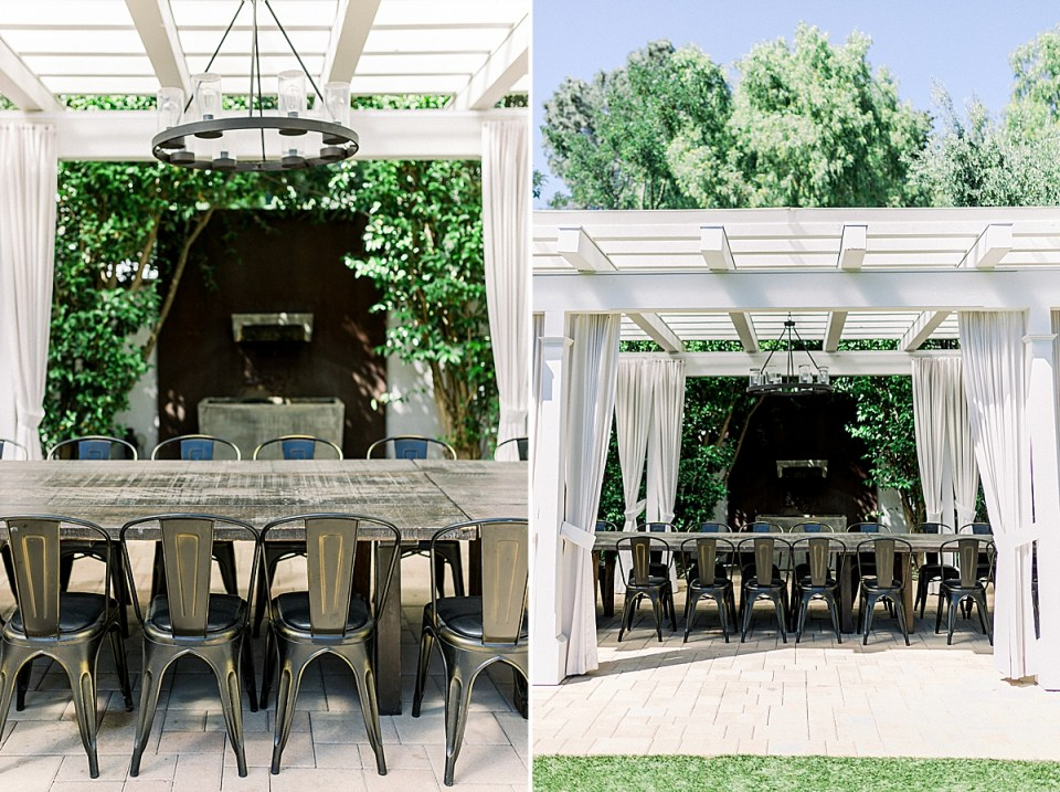 More photos of the gazebo at the Fess Parker wedding venue in los Olivos, California.