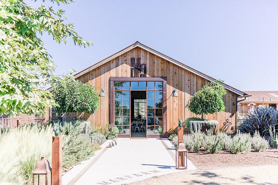 The wedding venue, MarFarm in San Luis Obispo, California.