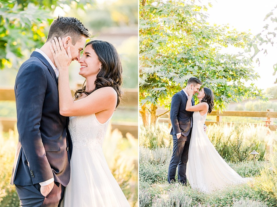 A close up of Lauren holding Scott's cheek and pulling him in for a kiss. A second image of the same thing, but pulled back.