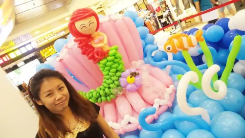 Jocelyn and Mermaid Display - Yishun Northpoint