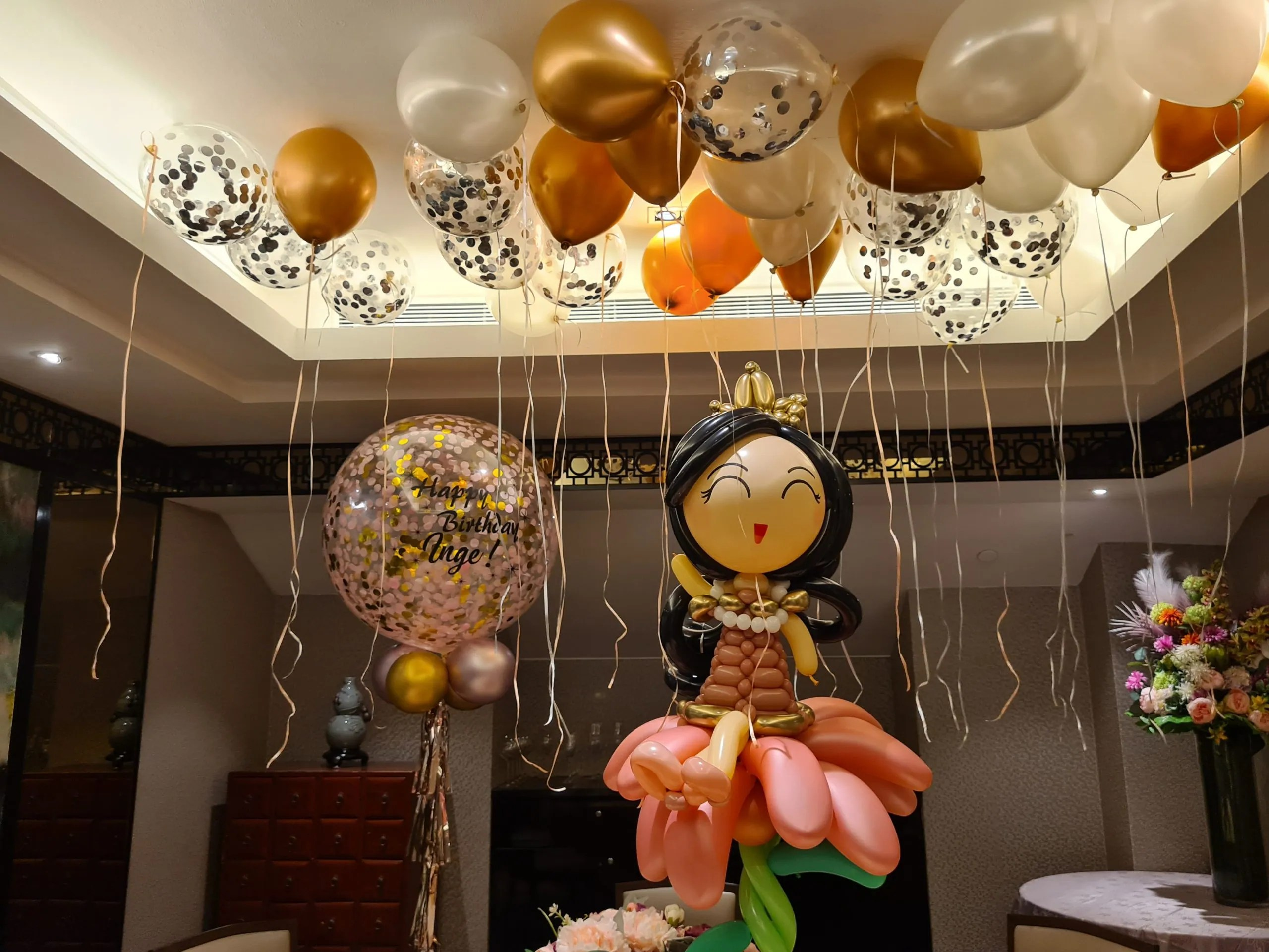Simple Balloon Decoration for Birthday Parties