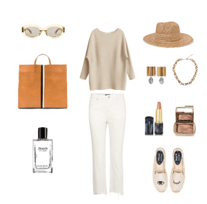 summer outfit, how to wear white denim