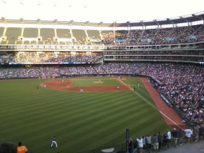 A view from the bleachers at Progressive Field.