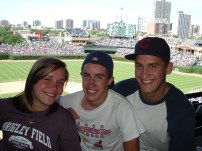 My brothers and I at Wrigley Field.
