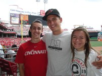 My bothers and I at Great American Ballpark in 2013