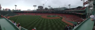 The view from atop the Green Monster during our tour
