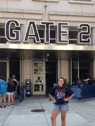 A more grown up version of myself outside of Gate 2, this time at New Yankee Stadium