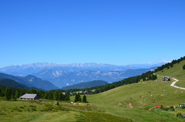 The view towards the Brenta dolomites