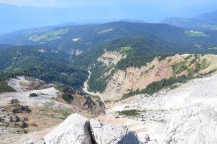 GEOPARC Bletterbach vom Gipfel des Weißhorn