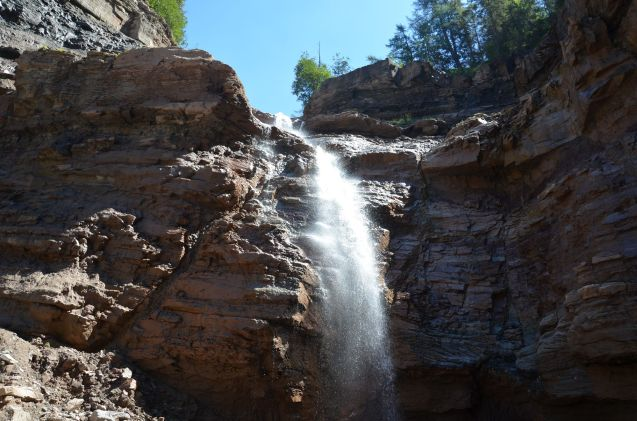 Wasserfall im GEOPARC Bletterbach
