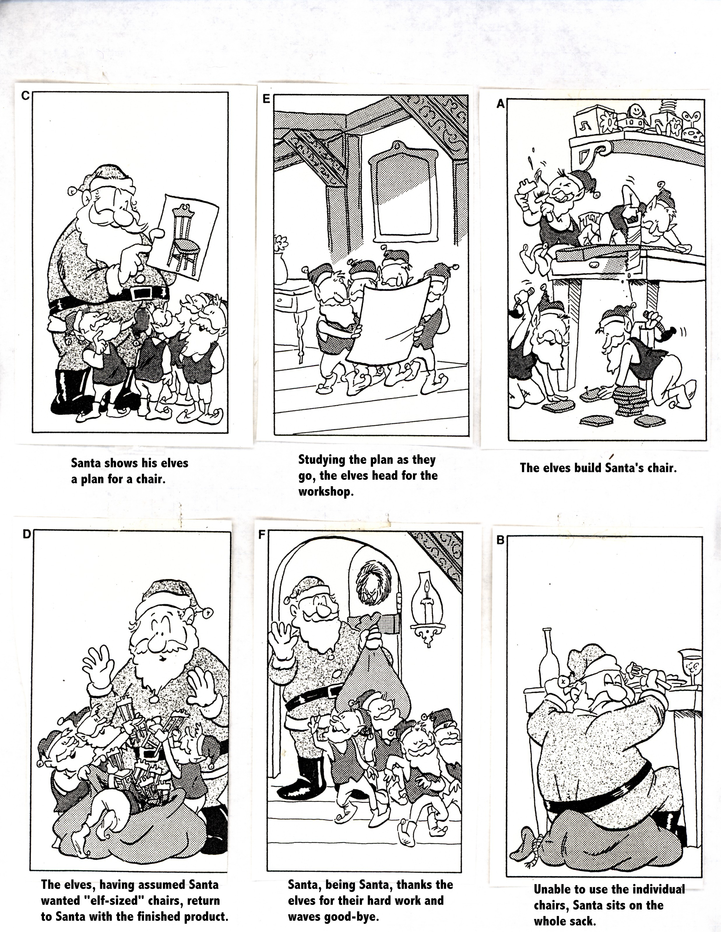 Christmas Cartoon Sequence Answer Key
