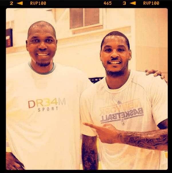 Carmelo Anthony will work out with Hakeem Olajuwon this summer.