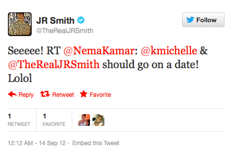 Couple Alert: Is K. Michelle and NY Knicks Star J.R. Smith ... K Michelle And Ryan Lochte Tweets