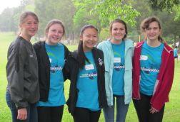 "West Johnston High School's FFA Team called ""Teeny Bog Turtles FFA"" members include Lauren Hess, Brooke Burns, Jenny Huynh, Alyssa Barbour and Laura Kuhaneck"