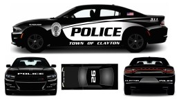 The new Clayton police car design