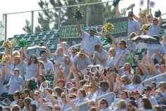 Members of the South Johnston area show their school spirit during the district-wide convocation.