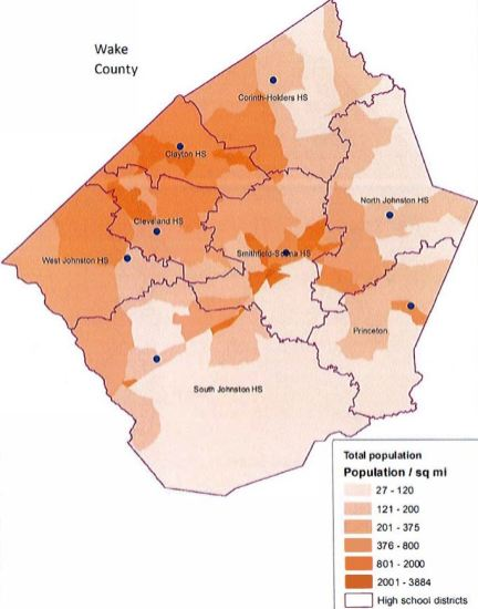 High School Attendance Areas x Total Population