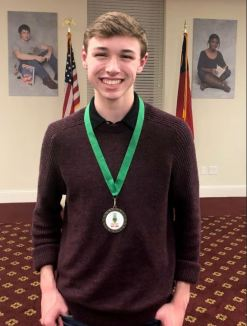 Johnston County Early College Academy student Seth Mabry was the Poetry Out Loud competition winner.
