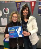 McGee's Crossroads Elementary School Counselors Bonnie Callahan (left) and Carmen White (right) celebrate National School Counseling Week.