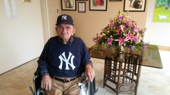Milt Capps a 99 year-old resident at Smithfield Manor, is hoping to see the New York Yankees play in Yankee Stadium this June for his 100th birthday.