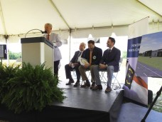 Four Oaks Mayor Linwood Parker says the new Ashley Furniture retail store and distribution center will create much needed jobs in the Four Oaks community. JoCoReport.com Photo