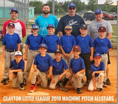 Clayton Little League - Machine Pitch Allstars 06-25-19