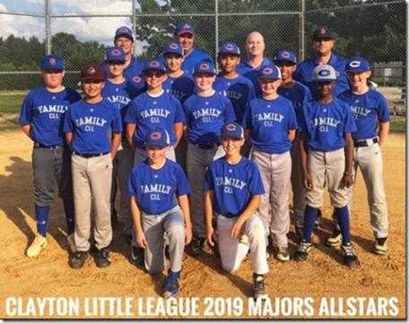 Clayton Little League - Majors Allstars 06-25-19CP