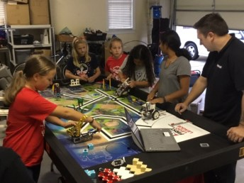 Craig Danby, of Team Mowbot for the upcoming season of Discovery Channel's Battlebots, mentors the only all-girl FIRST LEGO League team in Johnston County, the Techno Tigresses. Danby will display some of his combat robots during a community outreach event in Clayton in mid-November.