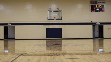 The newly renovated Lee Street Gym court.