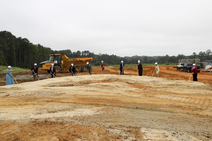 Johnston County Public Schools broke ground on a new Lynch Road elementary school on Thursday, July 30.