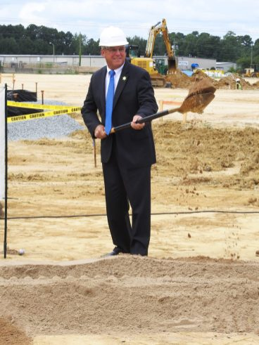 Sheriff Steve Bizzell breaks ground for a new Johnston County Detention Center