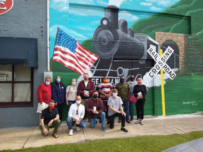 A train mural on E. Railroad Street in Selma. Contributed photo