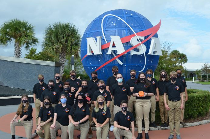 f(x) First in Orbit traveled to Kennedy Space Center Oct 22-26 to brief NASA scientists and engineers about their proposed payload ideas. The team received feedback for how to make their proposal better as they prepare to submit to NASA by mid-December. Photo by Dunja Nascimento-Wilson