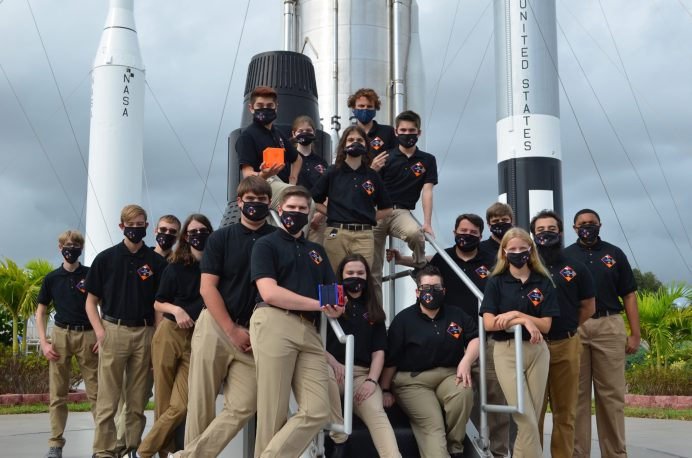 North Carolina's first NASA CubeSat Launch Initiative team is comprised of Johnston County students in grades 7th-12th and two college students. The team plans to research, build and launch a mini-satellite to space by 2023. Photo by DunjaNascimento-Wilson