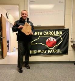 Trooper D.K. Douglas was recognized for making the most DWI arrests.