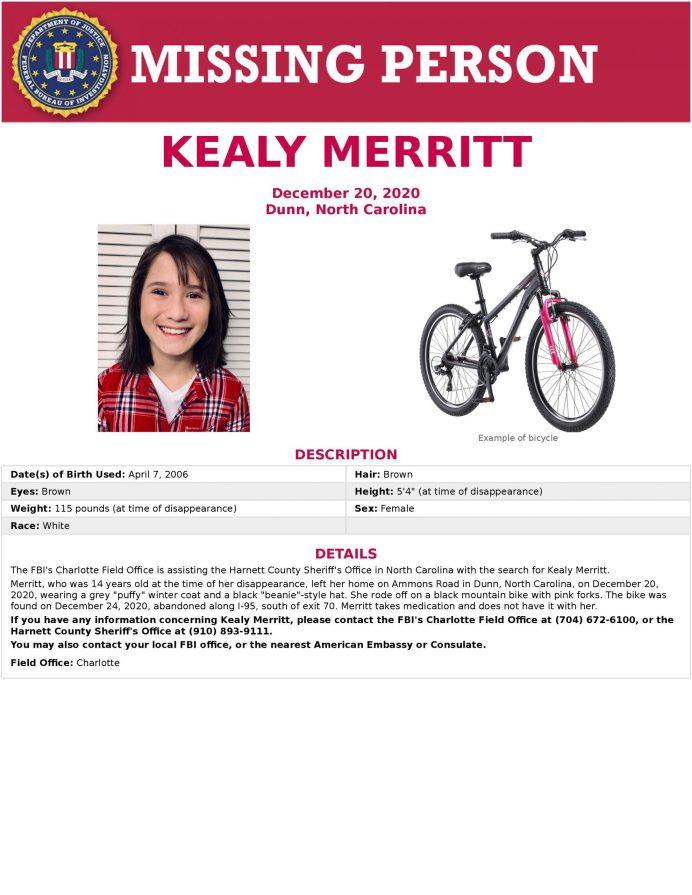 Kealy Merritt FBI Flyer