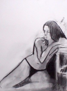 Life drawing at the Art League