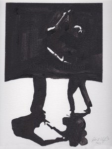 Dancing in the Dark, Connection, Ink on paper, Dance Art