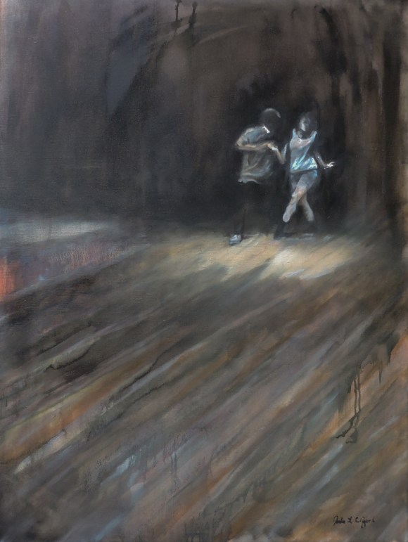 Connection: West Coast Swing at Grace Church, Ochos 30x40, Oil on Canvas (Jodee Clifford / 2017)
