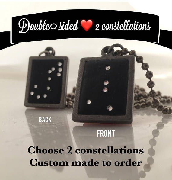 Double sided constellation necklace by Jodee of Lucky Star Dreams