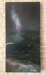 Milky Way Cape May Point Oil on Canvas, 15x30""
