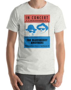 Bluesberry Brothers T-Shirt Design for Wildwood Berry Farm