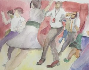Shim Sham Swing Dance Watercolor