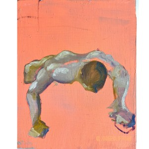 pushup first impression oil on canvas